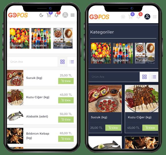 karekodu menü, online satiş sistemi